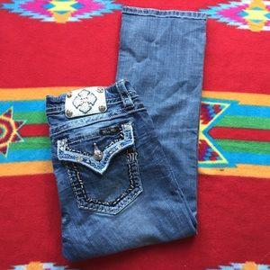 Miss Me Jeans - Miss Me Signature Cuffed Capri Jeans Sz 30